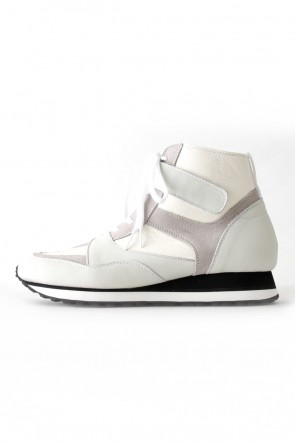 The Viridi-anne 17-18AW Leather High-cut Sneakers White