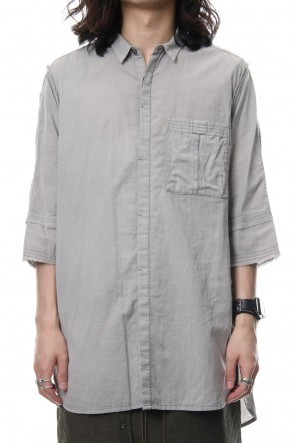 The Viridi-anne 18SS Product Dyed Short Sleeve Shirt L.Gray