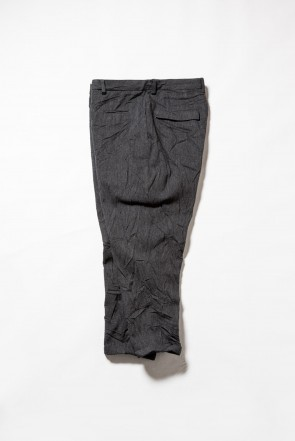 The Viridi-anne 18-19AW Army surge wrinkled processing Cropped pants