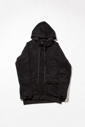 The Viridi-anne 18-19AW Brushed Fleece Parker Black