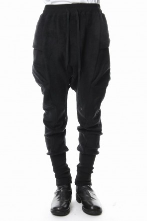 The Viridi-anne 18-19AW Brushed Fleece Pants Black