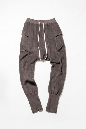 The Viridi-anne 18-19AW Brushed Fleece Pants Gray