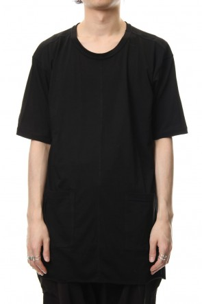 The Viridi-anne 19SS Cotton silk hem pocket T-shirt Black