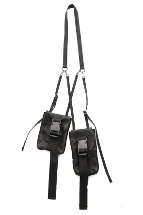 The Viridi-anne 19SS Neck Pouch (Double) Black