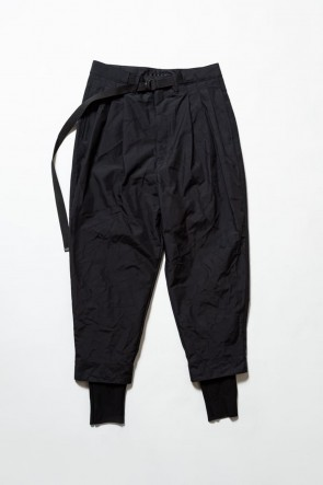 The Viridi-anne19-20AW3layer Wrinkled Pants