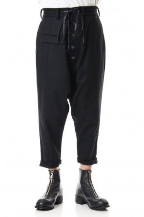 The Viridi-anne 19-20AW Coating Flannel Sarouel Pants