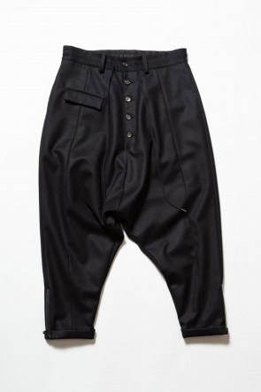 The Viridi-anne19-20AWCoating Flannel Sarouel Pants