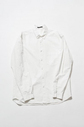 The Viridi-anne 19-20AW Cotton Linen Plane Shirt - White