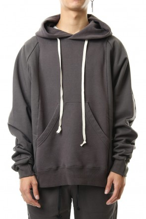 The Viridi-anne 19-20AW Fleece Lining Combination Hoodie - Gray