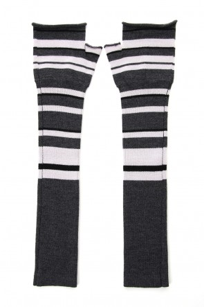 The Viridi-anne 19-20AW Arm warmer - Gray Stripe