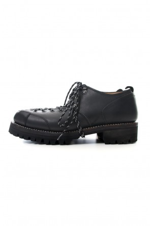 The Viridi-anne19-20AWSteer leather Derby shoes