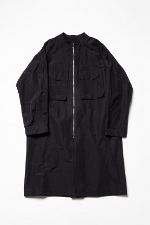 The Viridi-anne 20SS Cotton Nylon Collarles Coat