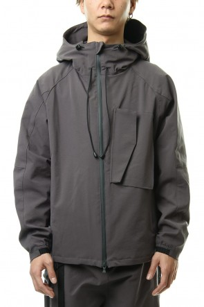 The Viridi-anne20SSWater-repellent Stretch Mountain parka Gray