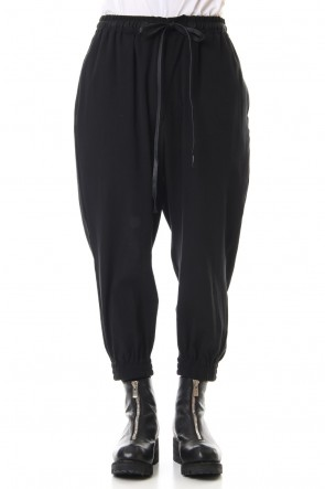 The Viridi-anne 20SS Hard twist Double weave Cuff pants Black