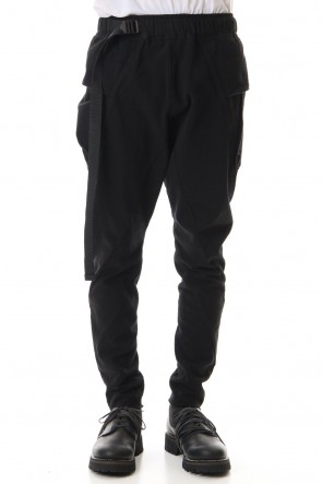 The Viridi-anne 20SS Tight Tension Jersey pants Black