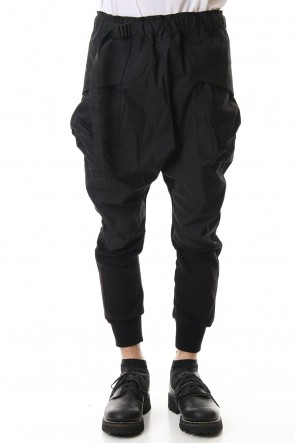 The Viridi-anne 20SS Fleece Combination Tactical pants Black