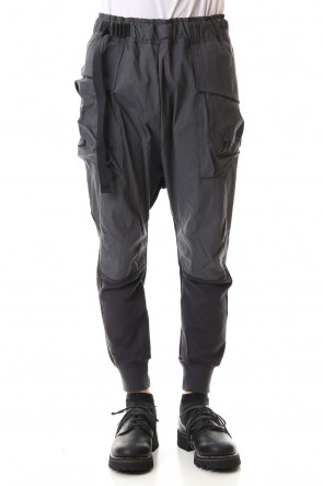 The Viridi-anne 20SS Fleece Combination Tactical pants Charcoal
