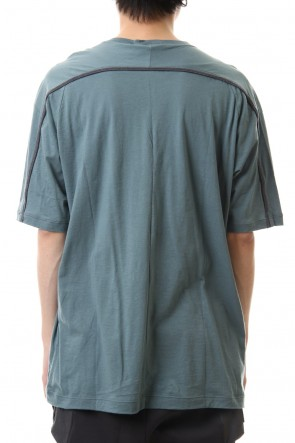 The Viridi-anne20SSCotton cashmere Back body Line Tee Turquoise