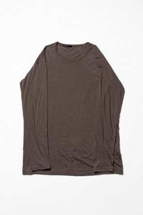 The Viridi-anne 20SS Cotton cashmere Long sleeve T-shirt Olive Drab