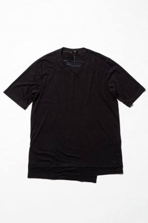The Viridi-anne 20SS Jersey stitch Back body Cordura Lespedeza Short sleeve T-shirt Black