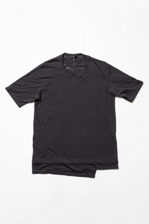 The Viridi-anne 20SS Jersey stitch Back body Cordura Lespedeza Short sleeve T-shirt Charcoal