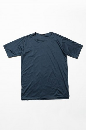 The Viridi-anne 20SS High Gauge Smooth Short sleeve T-shirt Blue