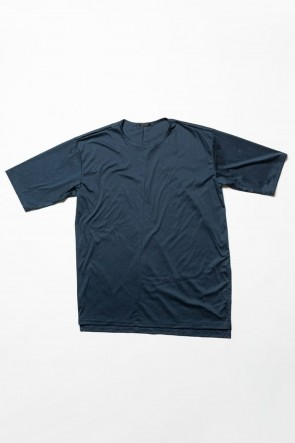 The Viridi-anne 20SS High Gauge Smooth Short sleeve Big tee - Blue