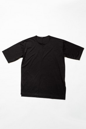 The Viridi-anne 20SS High Gauge Smooth Short sleeve Big tee - Black