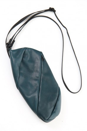 The Viridi-anne 20SS Lamb leather Neck pouch - Beau Green