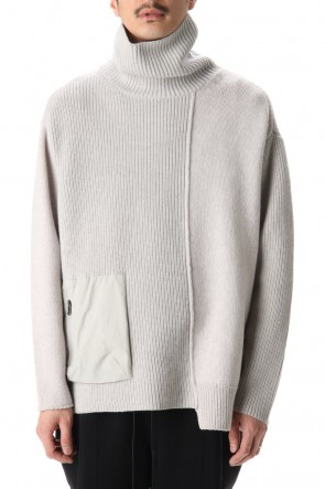 The Viridi-anne 20-21AW Pocket Turtle neck knit L.Gray