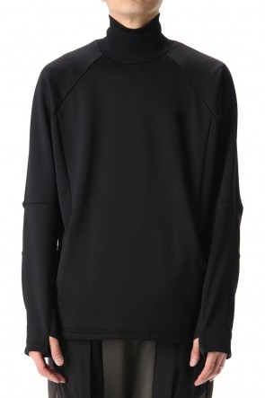 The Viridi-anne 20-21AW Cotton nylon fleece Turtle neck Black
