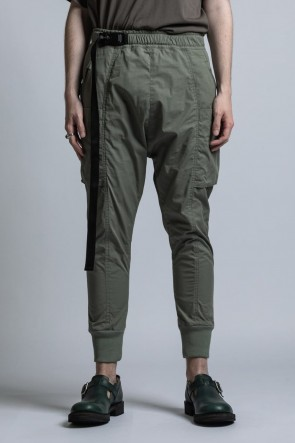 The Viridi-anne 21SS CORDURA NYLON COTTON Water-Repellent Rib Pants Sage Green