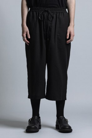The Viridi-anne 21SS Strong-Twist Cotton Wide Cropped Pants