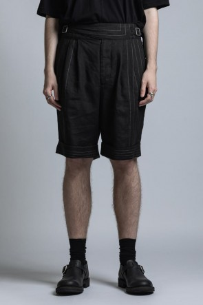 The Viridi-anne 21SS Square Print Linen Gluca Shorts