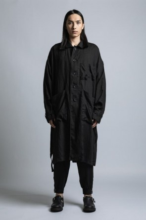 The Viridi-anne 21SS Linen Broad Coat