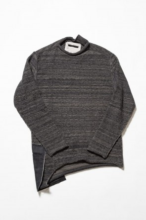 The Viridi-anne19-20AWDANIEL ANDRESEN collaboration Pullover knit - Charcoal / Ice
