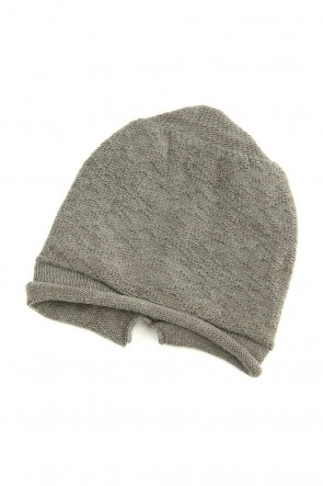 The Viridi-anne 19-20AW DANIEL ANDRESEN collaboration Knit cap - Charcoal / Ice