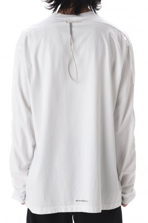VEIN 20-21AW Sueded Co jersey Vessel L/S tee White