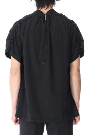 VEIN 21SS Sueded Cotton jersey Vessel S/S Tee Black