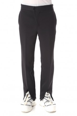 VEIN 20-21AW Pe Triple cloth Slit trousers
