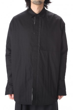 VEIN 20-21AW Pe/Co Viera Padding Vessel L/S shirt Black
