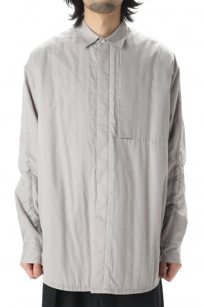 VEIN 20-21AW Pe/Co Viera Padding Vessel L/S shirt Gray