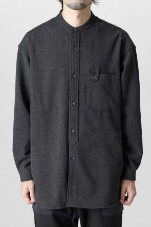 White Mountaineering21-22AWStretched band collar Shirt