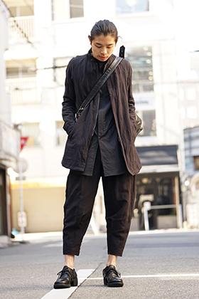 DEVOA 18SS Cotton Linen Check Style