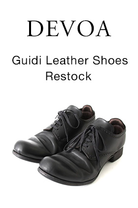 DEVOA Guidi Leather shoes Black Restock