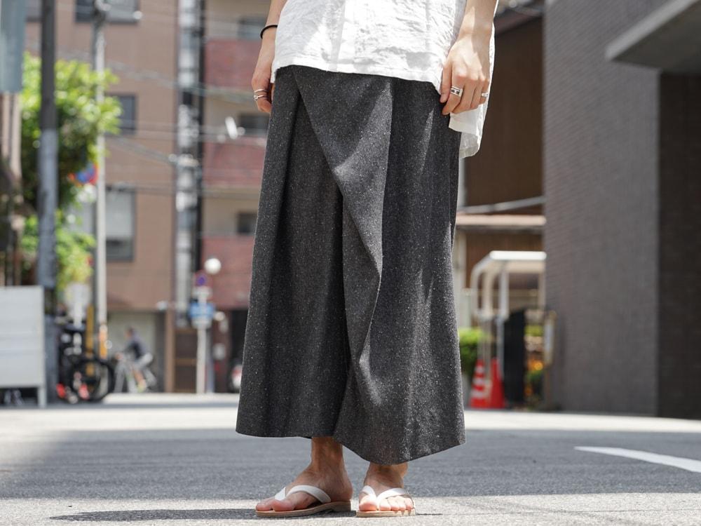 divka - Silk Noil Denim Pants detail 01