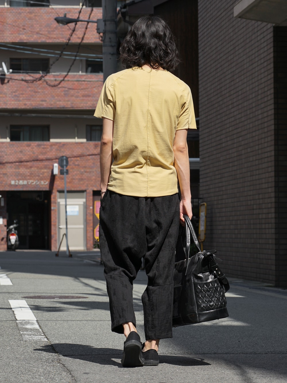 individual sentiments Short Sleeve T Cotton Linen Jersey back style 03