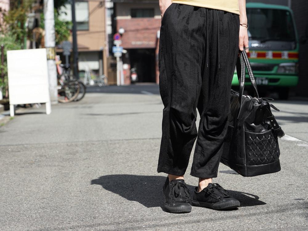 individual sentiments Short Sleeve T Cotton Linen Jersey pants detail 01
