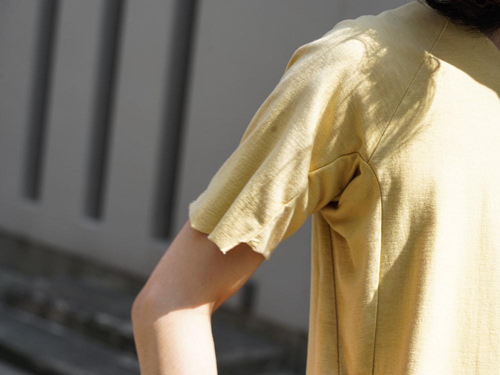 individual sentiments Short Sleeve T Cotton Linen Jersey t-shirts detail 02