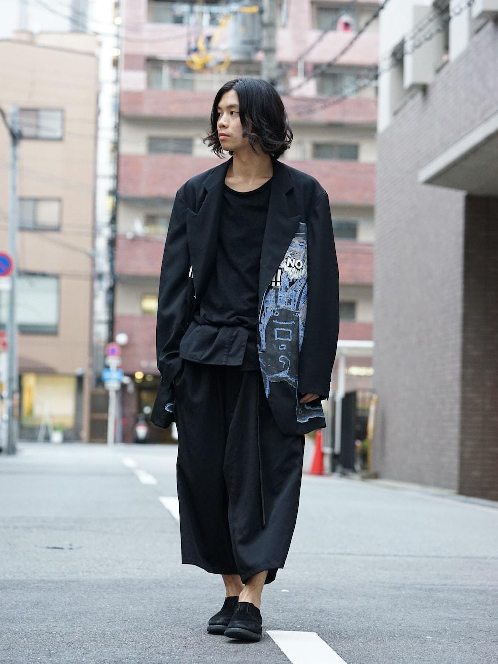 Yohji Yamamoto Deformation Collar Print Jacket  01